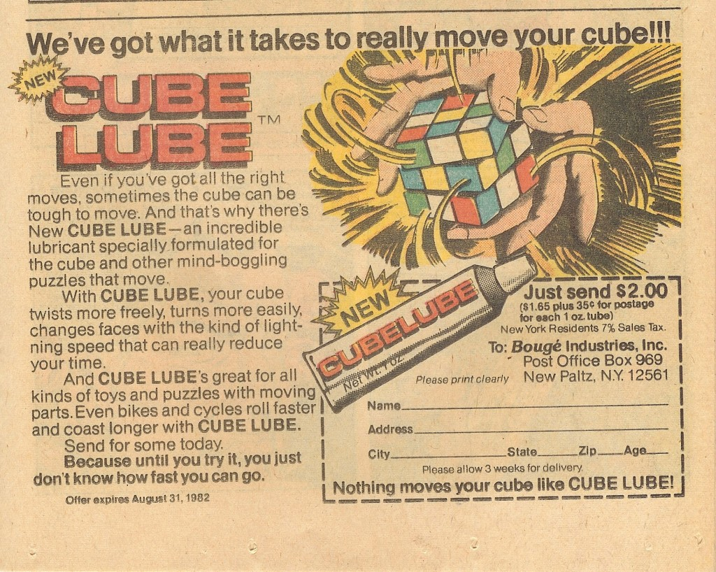 Cube Lube, circa 1982