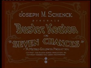 Seven Chances Title Card