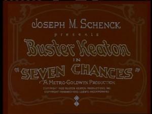 Seven Chances Title Card